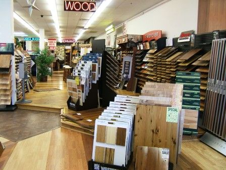 The Wood department in Our Brewster Showroom.