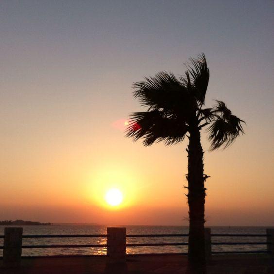 Sunset at budaiya beach park.