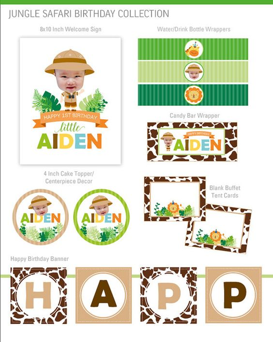 Safari Party Decorations Zoo Party Decorations by maydetails