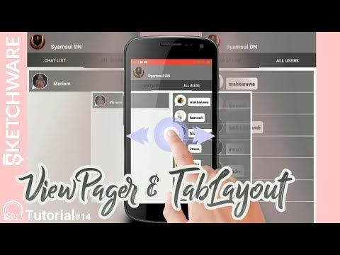 Membuat Aplikasi Chat Part 14 Viewpager Tablayout In Sketchware Tutorial Chatapp Youtube Android Aplikasi Video