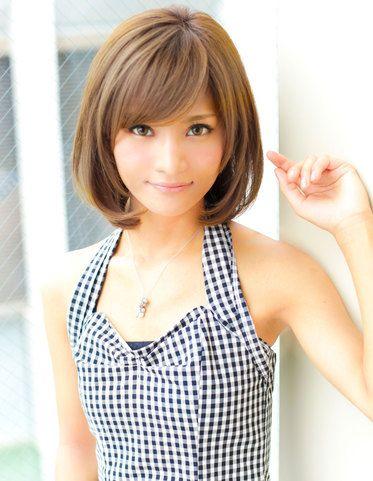 髪型:ボブ かわいい髪型-jp.pinterest.com