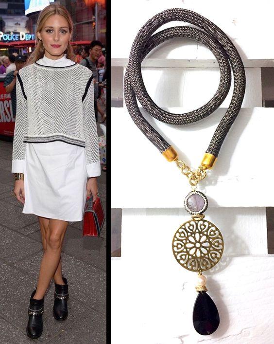 Collana con goccia di cristallo (Bijoux handmade)