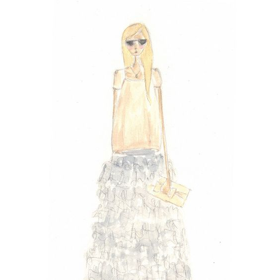Original fashion illustration in watercolor PRINT. $20.00, via Etsy.