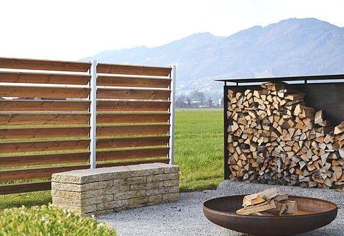 Haltbares Sichtschutzsystem 02 Aluminium Und Thermoholz Jalousie Lamellen Als Terrassen Und Gartensichtschutz