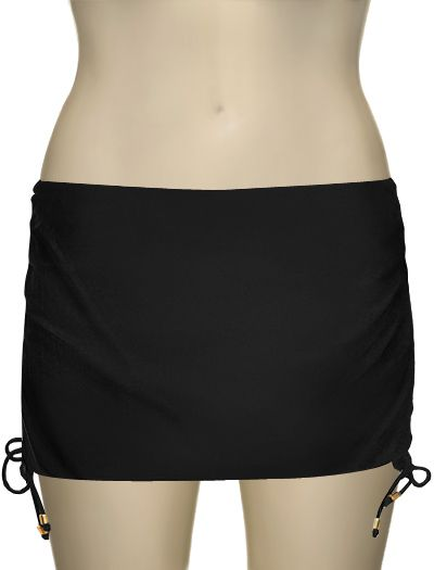 The Spanx Core Bottoms Skirtini with a built-in brief is an elegant swim bottom that covers any trouble spots.