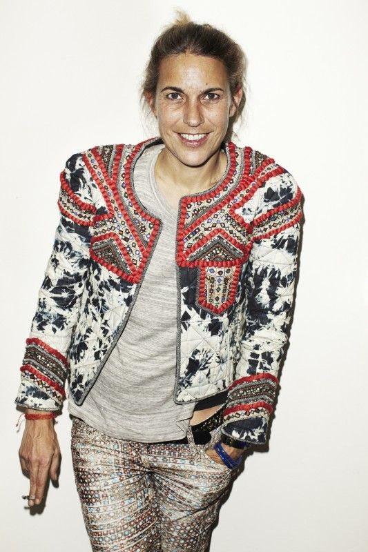 Isabel Marant - 1) Natural hair and face 2) Interesting patterns and textures 3) Jacket with t-shirt