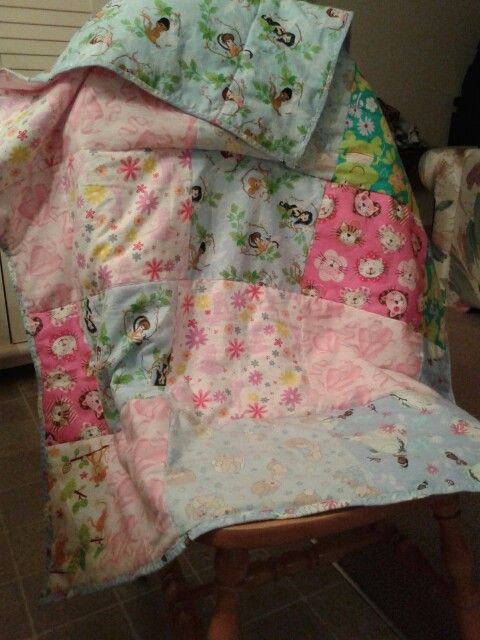 Flannel quilt for my great niece, took longer to make than I thought, but when you work two jobs you try to sew when you can.