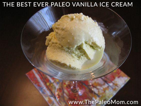 """The Best Ever Paleo Vanilla Ice """"Cream"""""""