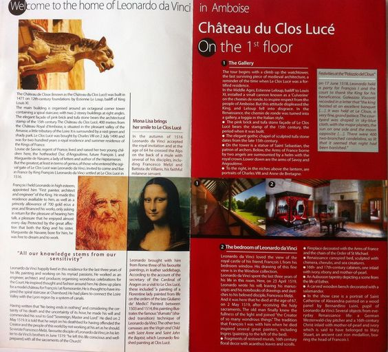 https://flic.kr/s/aHsk2KDUYV | Le Clos Lucé - English Guide | Loire Valley - Touraine - Amboise The last Leonardo da Vinci's House in France - English Guide: