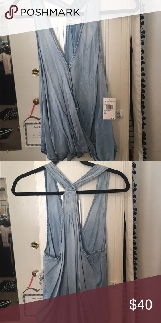 Denim tank top! Denim tank top from Nordstrom! Tops Tank Tops