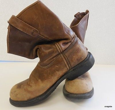"Vintage Red Wing Work Boots Steel toe 11"" Pull on Made in USA 2231 ..."