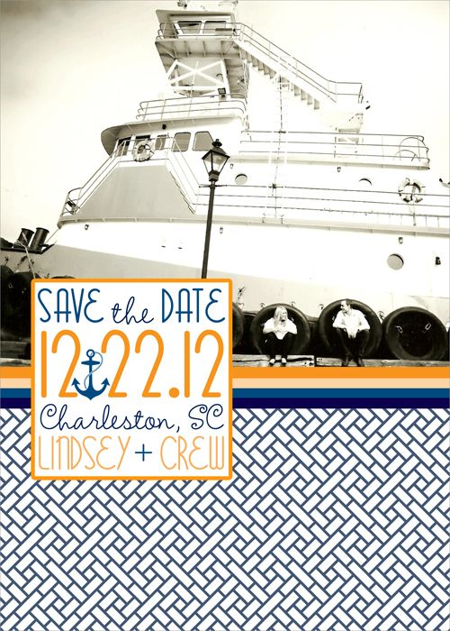 nautical save the dates, save the date magnets, magnet save the dates, nautical save the date magnets from Party Box Design!