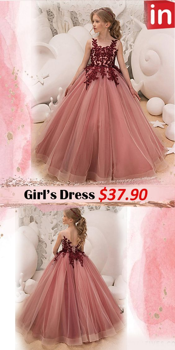 $37.9 Kids Girls' Active / Sweet Party / Holiday Solid Colored Sleeveless  Maxi Dress Pink   Holiday dresses, Pink maxi dress, Dresses