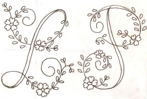 Letras para bordar gratis  Imagui  Harfler  Pinterest