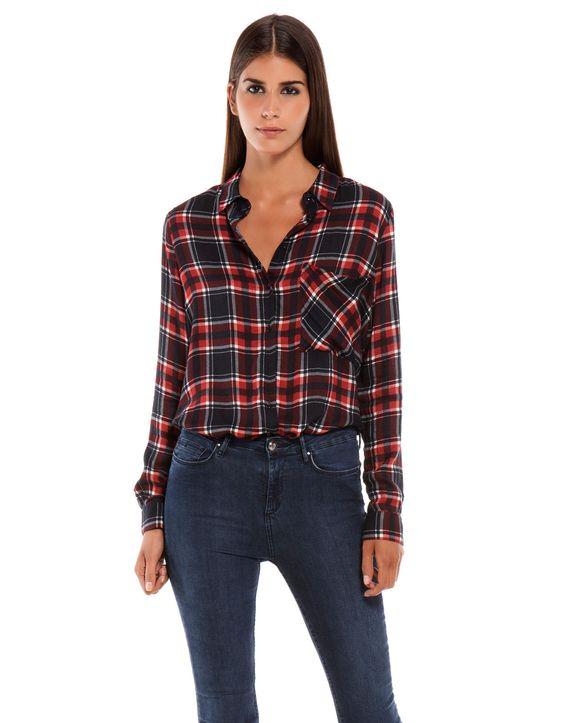 Bershka espa a camisa bershka cuadros moda pinterest - Cuadros online espana ...