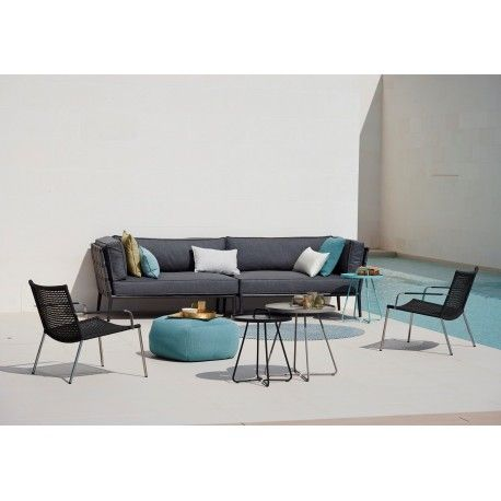 Conic 2 Seater Sofa Module W Cushion Set Right Luxury Outdoor