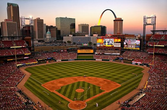 Busch Stadium - Home of the St. Louis Cardinals. Definitely one of the best views in baseball. I went to a game by myself one spring as I was driving through.