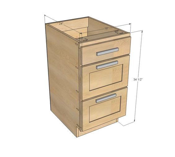 Ana White Build A 18 Quot Kitchen Cabinet Drawer Base Free
