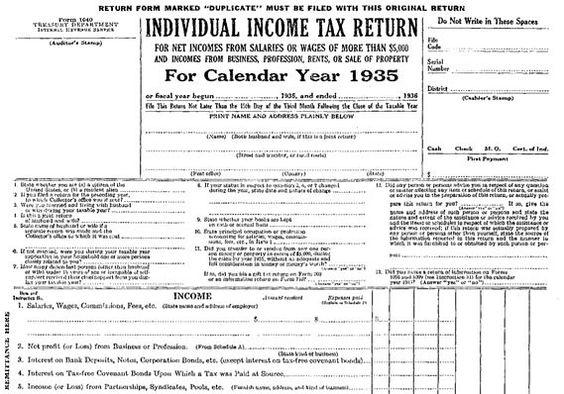 MarketWatch History speaks Pinterest - tax form