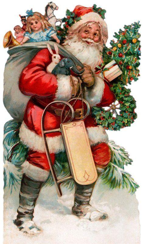 Новогодние и рождественские винтажные открытки. Обсуждение на LiveInternet - Российский Сервис Онлайн-Дневников