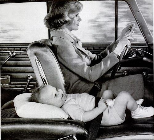1962 - Who needs a car seat?  LOL: