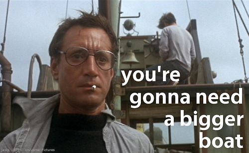 """famous movie quotes ... after all these years ... """"you're still gonna need a bigger boat!"""" - 1975"""