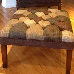 Tetrad Upholstery Harris Tweed Mackensie Patchwork Stool