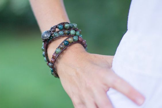 2 Wrap bracelets for 50 dollars boho bracelet by laceandthreads