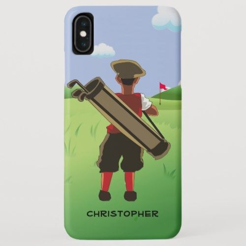 Personalized Golfer On Golf Course Case Mate Iphone Case Zazzle Com Golf Courses Golf Tips Driving Golf Tips