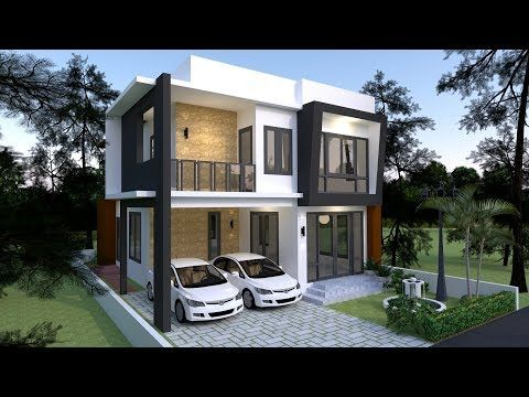 Apartment Plans 22x21 With 22 Bedroomsthe House Has Building Size M X M 22 00 X 21 00land Size Sq M Modern House Plans Architect House House Front Design