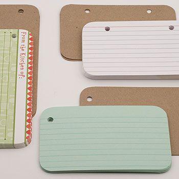 index cards in mini albums - Paper Valise blog