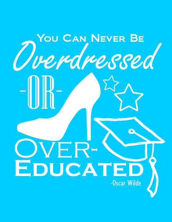 Overdressed or Overeducated Free Printable - Aqua