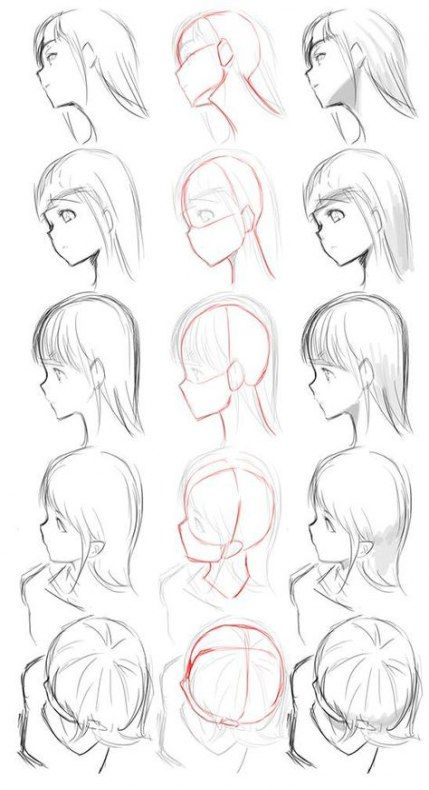Trendy Hair Drawing Back View Faces Ideas Anime Drawings Tutorials Drawing Tutorial Face Drawing