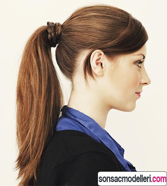 Exaggerated Trend Horse Tail Hair Model Pferdeschwanz Frisuren Coole Frisuren Frisuren Haarschnitte