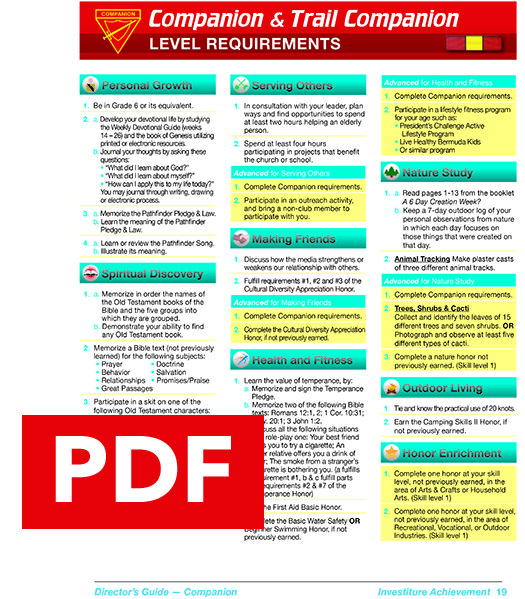 Investiture Achievement Companion Level Companion Reading Certificates Making Friends