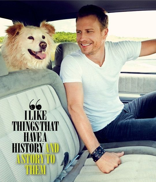 Cute guys with cute dogs (Dierks Bentley)