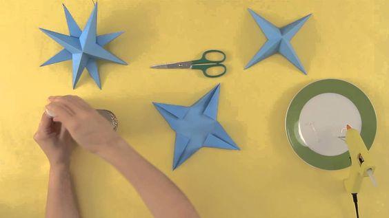 Como fazer uma estrela para enfeitar sua ár... : Artesanatos natalinos p...