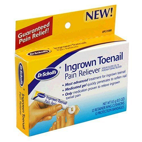 Dr. Scholl's Ingrown Toenail Pain Reliever, 1 kit, (w/ Gel, 12 retainer rings...