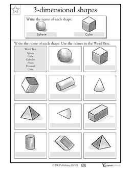 Drawing 3d shapes worksheet free worksheets library for 3 dimensional drawing software