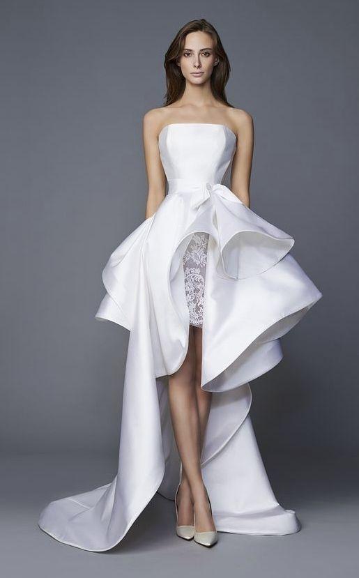 Modern Chic Short Wedding Dresses That Are Stealing The Show Short Wedding Dress Designer Dresses Wedding Dress Inspiration