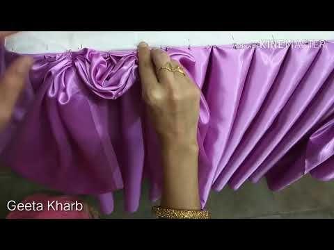 5 Type Idea Buffet Table Skirting Jhalar Parde Curtain Making Design Birthday At Home In Hindi Youtube Table Skirt Buffet Table Formal Dresses