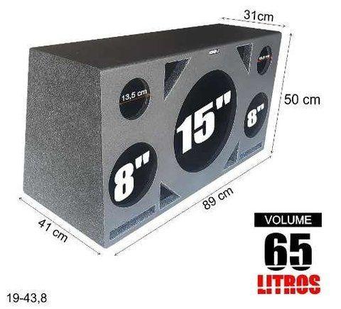 Caixa Trio Pelego Box Full Box 65 Litros Com Imagens Caixa De