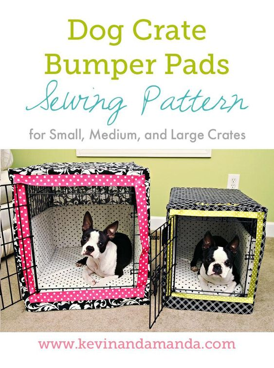 Dog Crate Bumper Pads Sewing Pattern Sewing Patterns