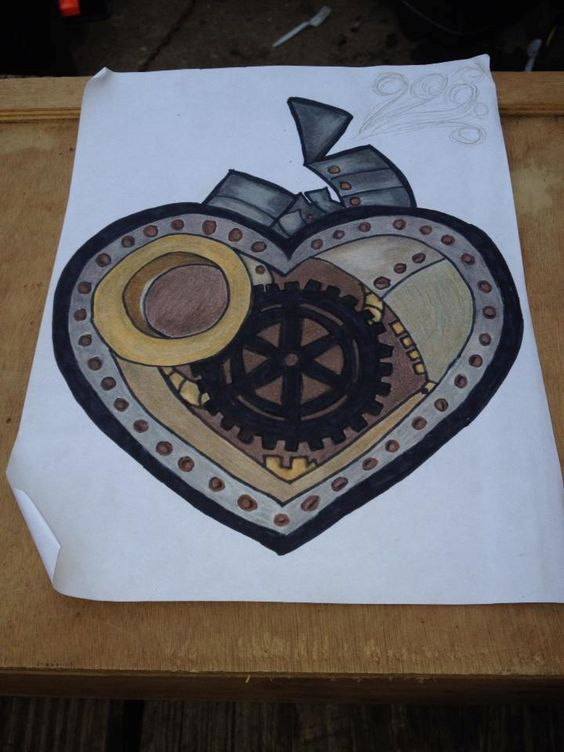 Finished - steampunk heart