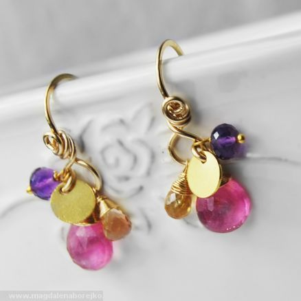 Fiesta Earrings Magdalena Borejko - designer gemstone jewelery