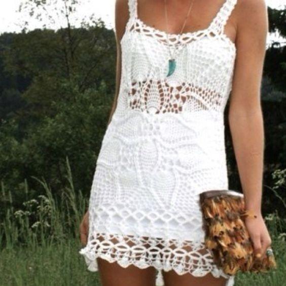 A cute crochet dress is perfect for summer! #summer