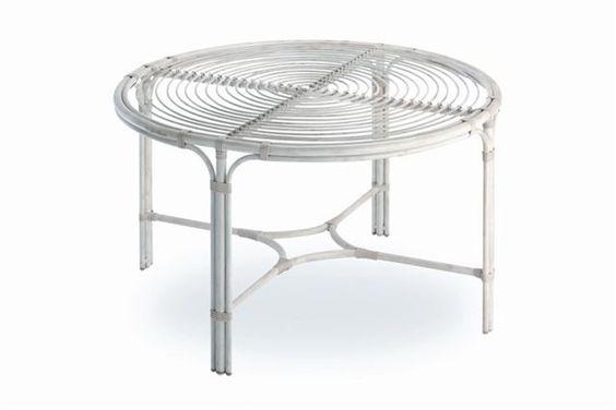 Mesa de comedor de 130 cm de di metro con cristal for Outlet muebles exterior