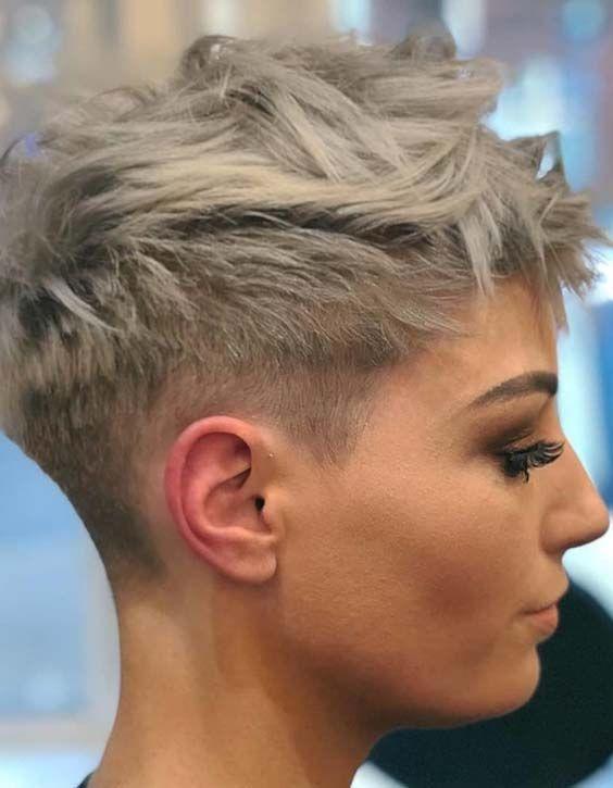 25 Fade Haircuts Fur Frauen Short Hair Styles Pixie Short Pixie Haircuts Short Hair Styles