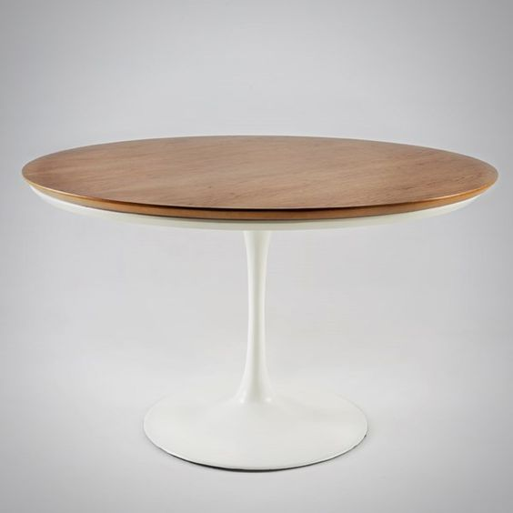 Mesa Eero Saarinen de Jantar Redonda Tampo Madeira 110CM - Moln Design Furniture