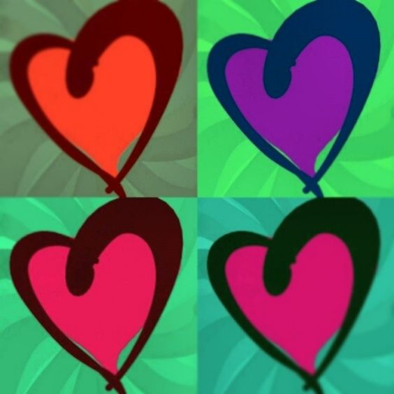Playing with my heart. Pop Art style!  #bright #colours #graphics #heart
